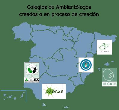 Mapa Colegio de Ambientólogos